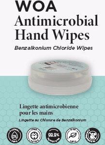 WOA antimicrobial wipes
