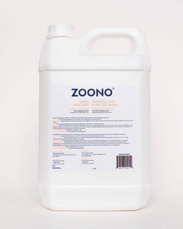 Zoono hand sanitizer - 3.78l